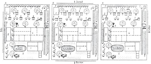 участке (схема размещения