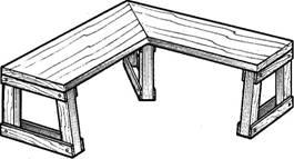 Угловая скамейка для бани чертежи