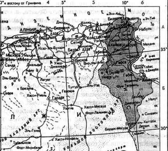 Современная карта окрестностей
