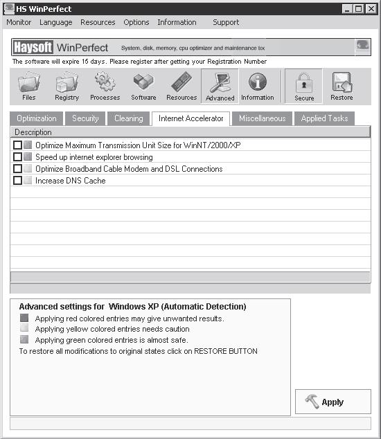 Systweak Boost Xp V2.0