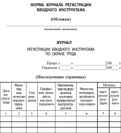 протокол о проведении инструктажа образец - фото 4