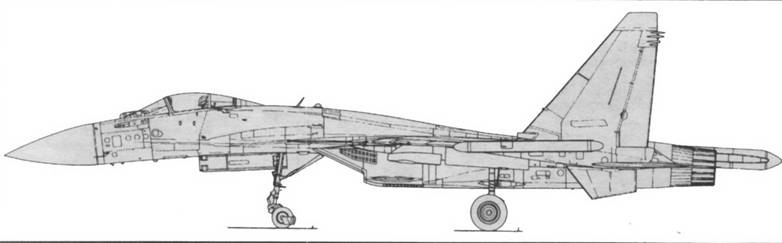 """Самолет выполнен по схеме  """"неустойчивый интегральный триплан """", сочетающей нормальную аэродинамическую схему с..."""