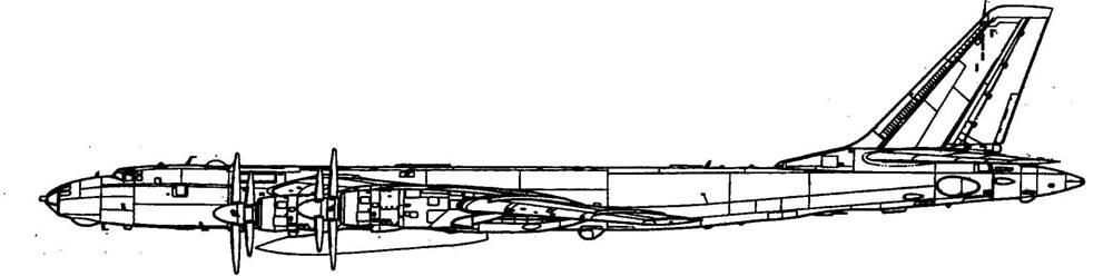 держателях самолета Ту-95.